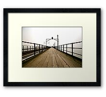 Pier Review Framed Print