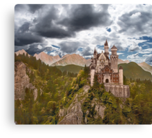 Castle Before The Storm Canvas Print