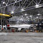 Aircraft in the garage by Adam Wightman