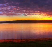 Sunrise at Lake Tinaroo by Gethin