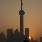 Sunrise Tai Chi (Tai Ji Quan) on Shanghai's Bund by Mark Bolton