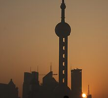 Pudong Sunrise by Mark Bolton