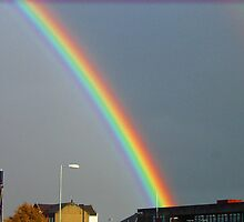 Port Glasgow Scotland, Rainbow by Susan  McDonald