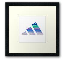 Cloudidas adidas  Framed Print