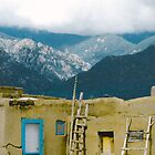 Taos Pueblo Sangre de Cristo Mountains by Zehda