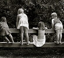 Friendship (black and white) by LisaRandall