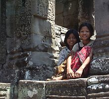 Girls of Angkor Wat, Cambodia II by Remine