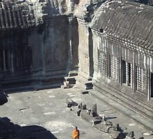Monk of Angkor Wat, Cambodia by Remine