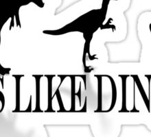 Tastes Like Dinosaur (text-shadow) Tee Sticker