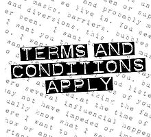 TERMS and CONDITIONS by SlacklineSam