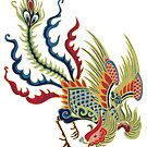 Asian Art Chinese Rooster by Zehda