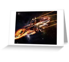 Sharktopus, in Space with Lasers! Greeting Card