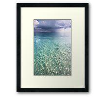 Somewhere is Rainy. Maldives Framed Print