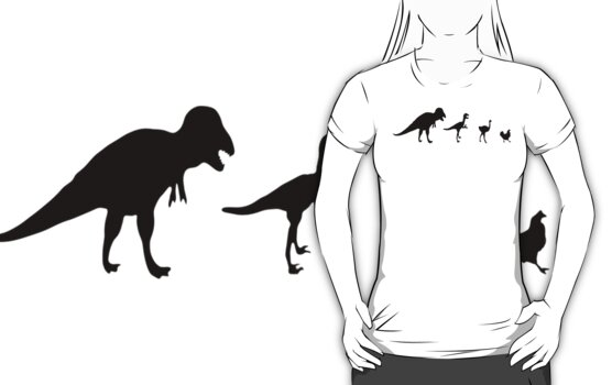 Tastes Like Dinosaur (black) Tee by BluAlien