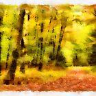 Autumn path - watercolour by PhotosByHealy