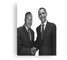 Dr Martin Luther King and Barack Obama Canvas Print