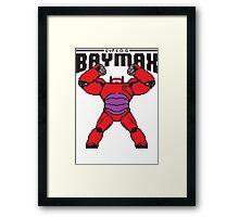 BAYMAX (8BIT) Framed Print