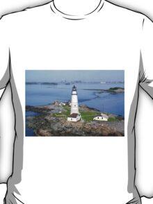 Aerial view of Boston Light T-Shirt