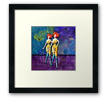 THE OLIVE SISTERS Framed Print