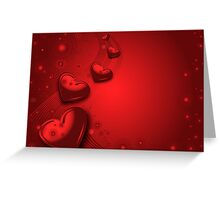 Red valentines card Greeting Card