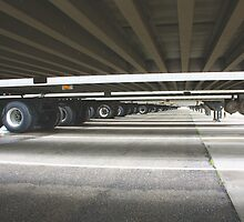 Depth perspective view under semi trailers by gregorydean
