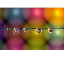 Coloured drops Photographic Print