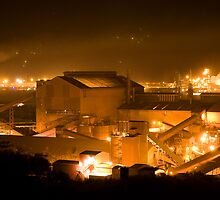 Steelworks at night by Overlander4WD