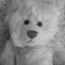Peaches Bear in B/W by karenuk1969