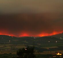 Healesville area fires, 9th Feb 2009. by Ern Mainka