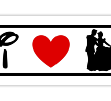 I Heart Happily Ever After (Classic Logo) Sticker