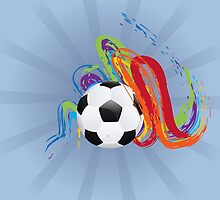 Soccer Ball with Brush Strokes by AnnArtshock