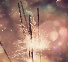 Sparkler and Colorful Bokeh 4 by AnnArtshock