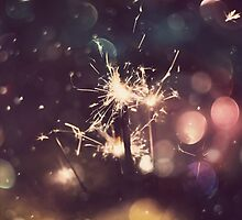 Sparkler and Colorful Bokeh 5 by AnnArtshock