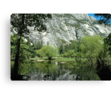 Spring Reflections, Mirror Lake Canvas Print