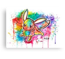 Cute Eevee Watercolor Tshirts + More! ' Pokemon ' Canvas Print