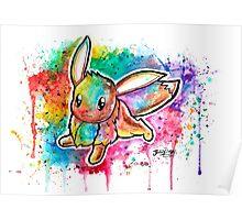 Cute Eevee Watercolor Tshirts + More! ' Pokemon ' Poster