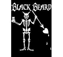 Black Beards Flag Photographic Print