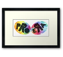Pro Era Black Tie Dye Framed Print