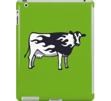 Flaming Fast Cow iPad Case/Skin