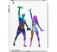 woman exercising with man coach iPad Case/Skin