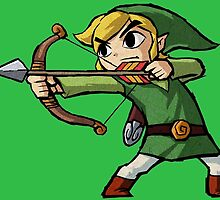 Toon Link Bow and Arrow Pose by MrDangerous