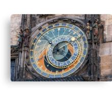 Astronomical clock, Prague. Canvas Print