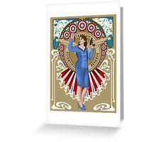 Agent Carter- art nouveau Greeting Card