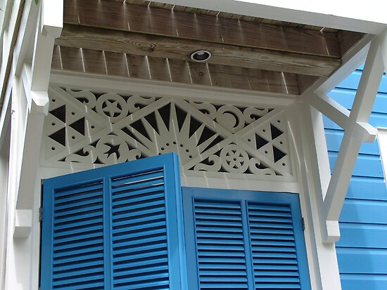 Blue Shutters by May Lattanzio