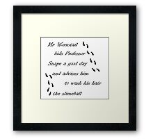 Marauders Map Mr Wormtail Framed Print