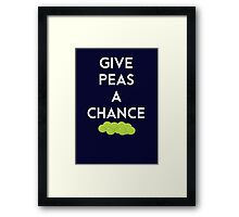 Give peas a chance  Framed Print