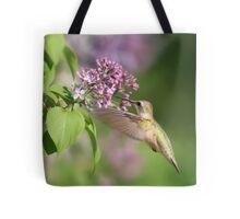 Lilac Hummingbird Tote Bag
