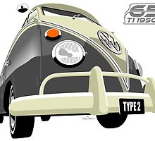 VW Transporter grey - 65th anniversary by car2oonz