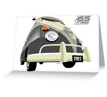 VW Transporter grey - 65th anniversary Greeting Card