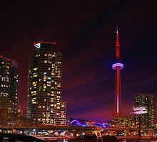 Toronto at twilight by paulchaperon
